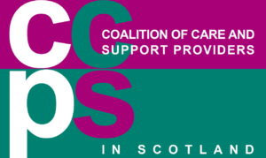 CCPS Logo pink and green rectangle with CCPS in large font