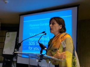 Florence Garabadien, SDSS Chair, Speaking