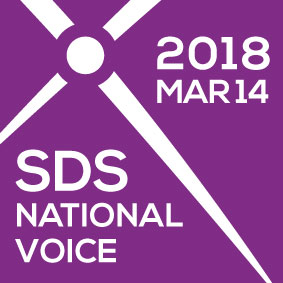 SDS National Voice 2018 Logo.