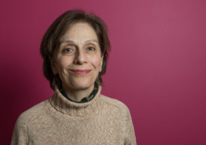 Florence Garabedian. SDSS Management Committee Chair on pink background