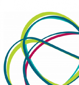 Logo from report shown intertwined curved lines in blue, green and red