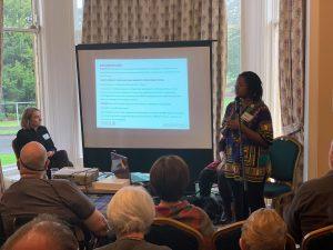 Image of Mary Njoki presenting