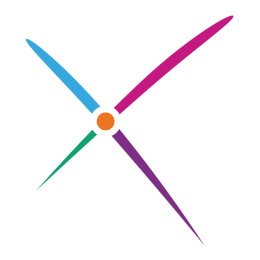 SDSS logo, multicoloured saltire