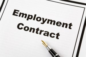 Document reads 'Employment Contract'