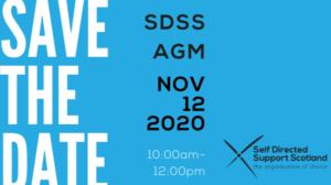 SAVE THE DATE SDSS AGM NOV 12 2020
